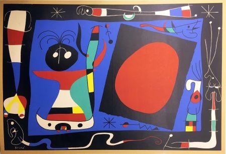 Lithographie Miró - FEMME AU MIROIR (1956)
