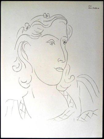 Lithographie Matisse - Femme avec Fleurs dans ses Cheveux