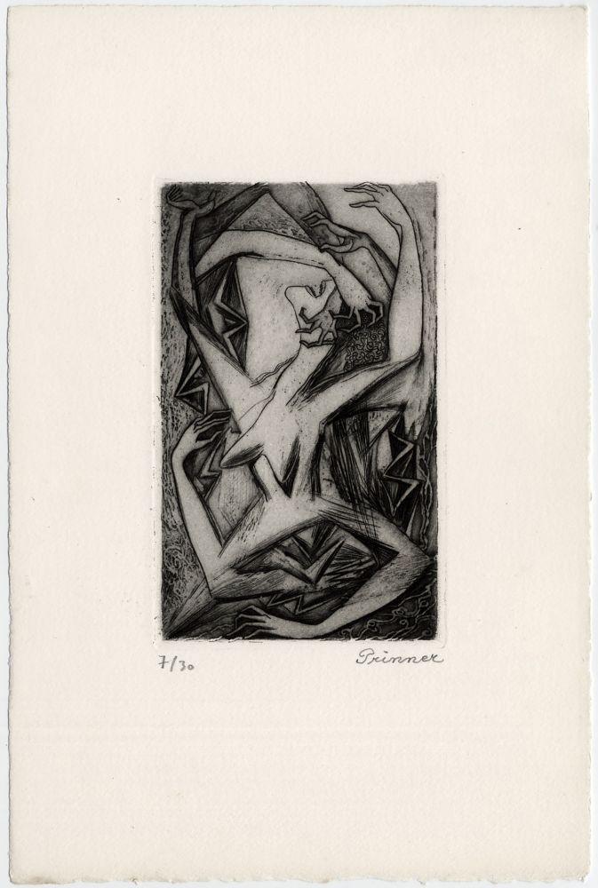 Eau-Forte Prinner - Femme, bras et mains (La Femme tondue, 1946)