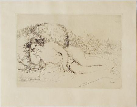 Eau-Forte Renoir - Femme couchée, tournée à gauche