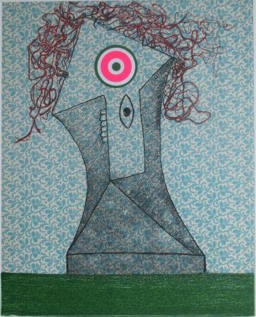 Gravure Baj - Femme dans un fauteuil