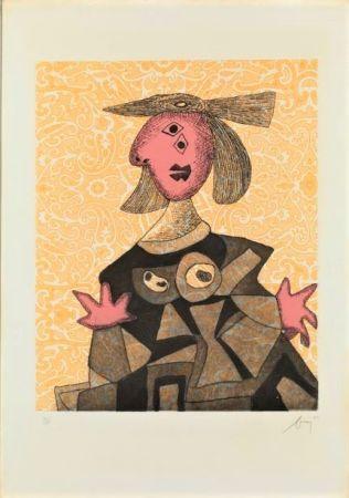 Eau-Forte Et Aquatinte Baj - Femme d'après Picasso