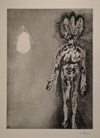 Eau-Forte Et Aquatinte Richier - Femme debout / L'Hydre