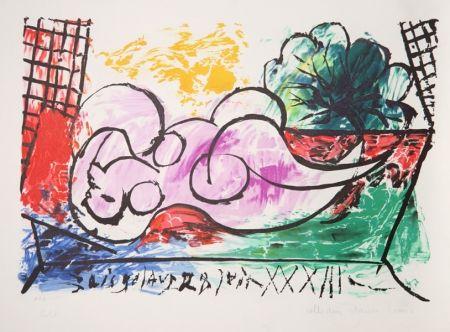 Lithographie Picasso - Femme Endormie
