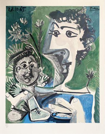 Lithographie Picasso - Femme et Enfant