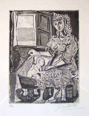 Eau-Forte Vilato - Femme et l'enfant