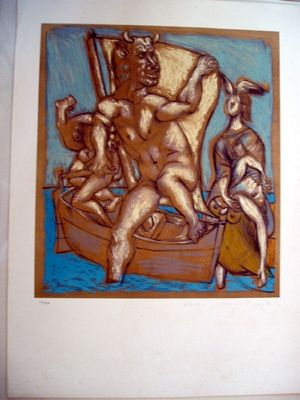 Lithographie Picasso - Femme Et Minotaur