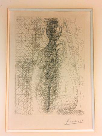 Eau-Forte Picasso - Femme nue a la jambe plièe