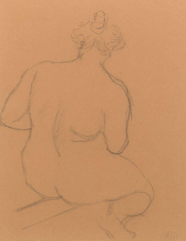Aucune Technique Maillol - Femme nue de dos, accroupie