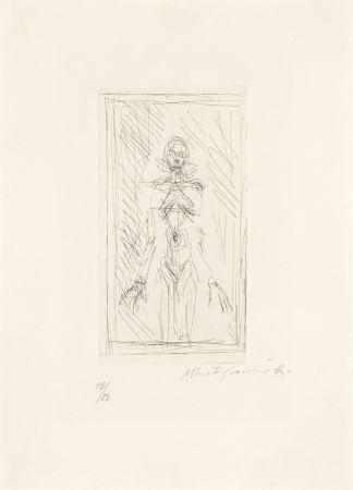 Gravure Giacometti - Femme nue de face à mi-corps