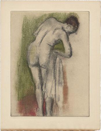 Eau-Forte Et Aquatinte Degas - Femme nue debout à sa toilette (vers 1880-1890)