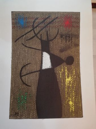 Lithographie Miró - Femme Oiseau X/X