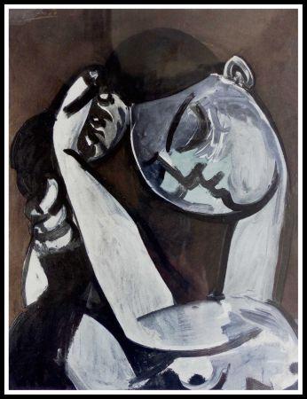 Pochoir Picasso (After) - FEMME SE COIFFANT