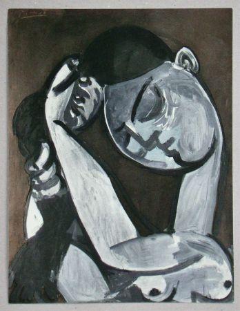 Pochoir Picasso - Femme se coiffant