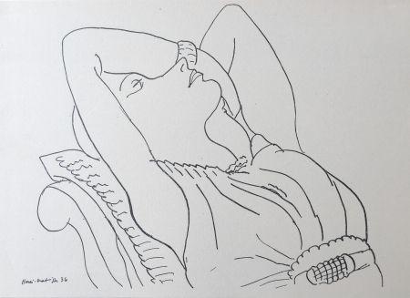 Lithographie Matisse - Femme sur canapé