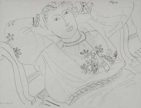 Lithographie Matisse - Femme sur chaise longue