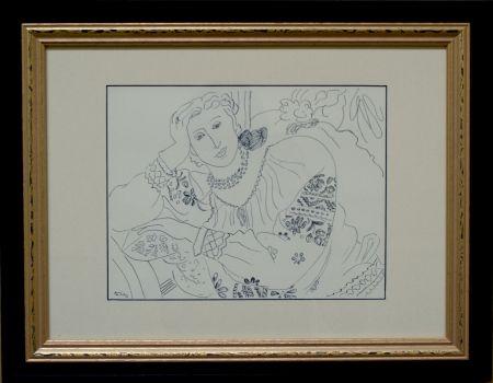 Offset Matisse - Femme sur chaise longue