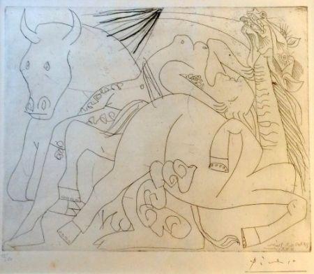 Gravure Picasso - Femme Torero