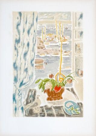 Lithographie Cavailles - Fenêtre grise