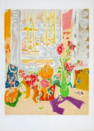 Lithographie Cavailles - Fenêtre ouverte
