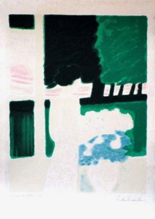 Lithographie Brasilier - Fenetre sur le parc