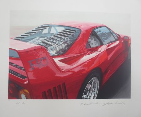 Lithographie Yoshida - Ferrari 250 GT0 64