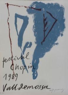 Lithographie Ràfols Casamada - FESTIVAL CHOPIN