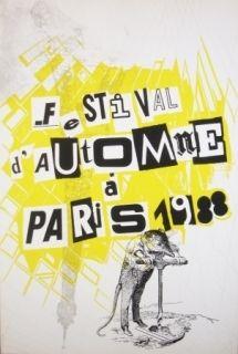 Sérigraphie Polke - Festival d'automne à Paris 1988