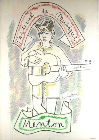 Lithographie Cocteau - Festival de Musique de Menton