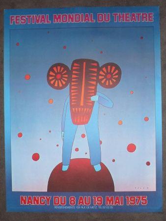 Affiche Folon - Festival mondial du théatre