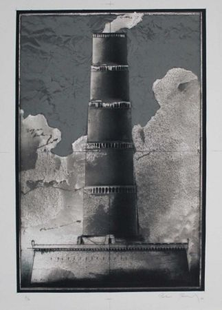 Lithographie Paul - Festungsturm