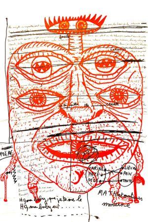 Lithographie Combas - Feu №2