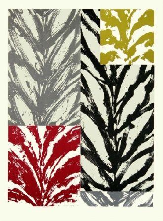 Lithographie Titus Carmel - Feuillée I