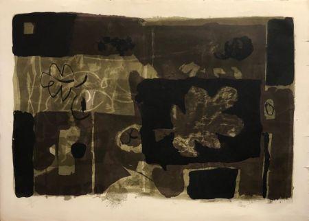 Lithographie Clavé - Feuille d'Automne