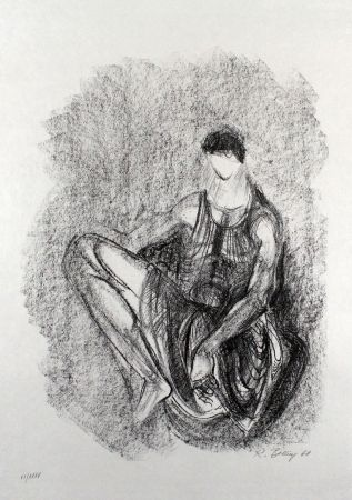 Lithographie Belling - Figur