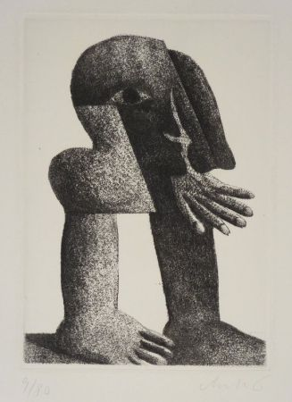 Gravure Antes - Figur Kösel II (Kopffüssler).