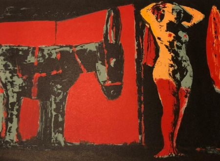 Lithographie Fiume - Figura femminile