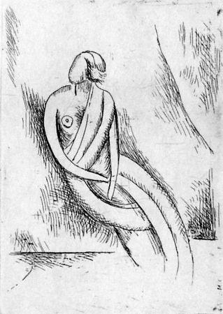 Eau-Forte Carra - Figura femminile