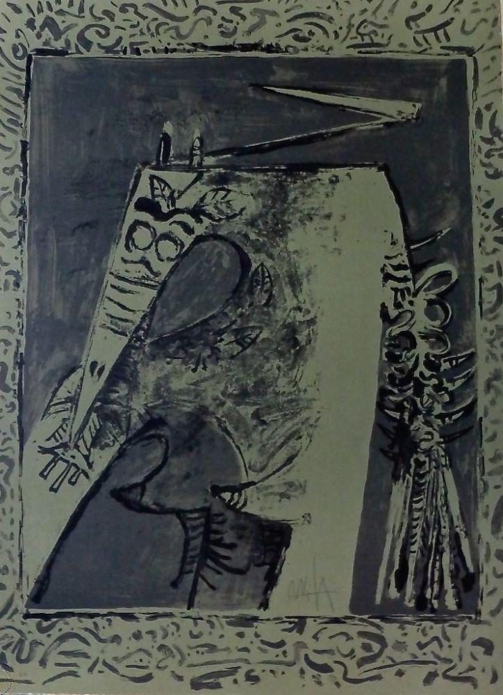 Lithographie Lam - Figura verde