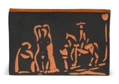Céramique Picasso - Figure and Cavalier