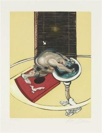 Eau-Forte Et Aquatinte Bacon - Figure at a washbasin (from Requiem pour la fin des temps)