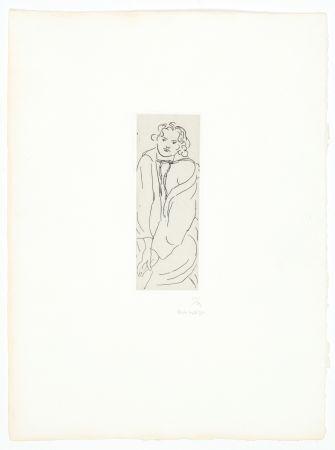 Gravure Matisse - Figure au peignoir