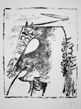 Lithographie Lam - Figure blanche et noire (White and Black Figure)