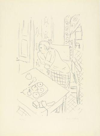 Lithographie Matisse - Figure dans un intérieur