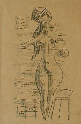 Lithographie Tozzi - Figure Poetiche 3, 1968