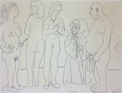 Lithographie Picasso - Figures and dove