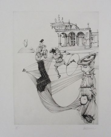 Eau-Forte Et Aquatinte Bellmer - Filles Et Cerceau
