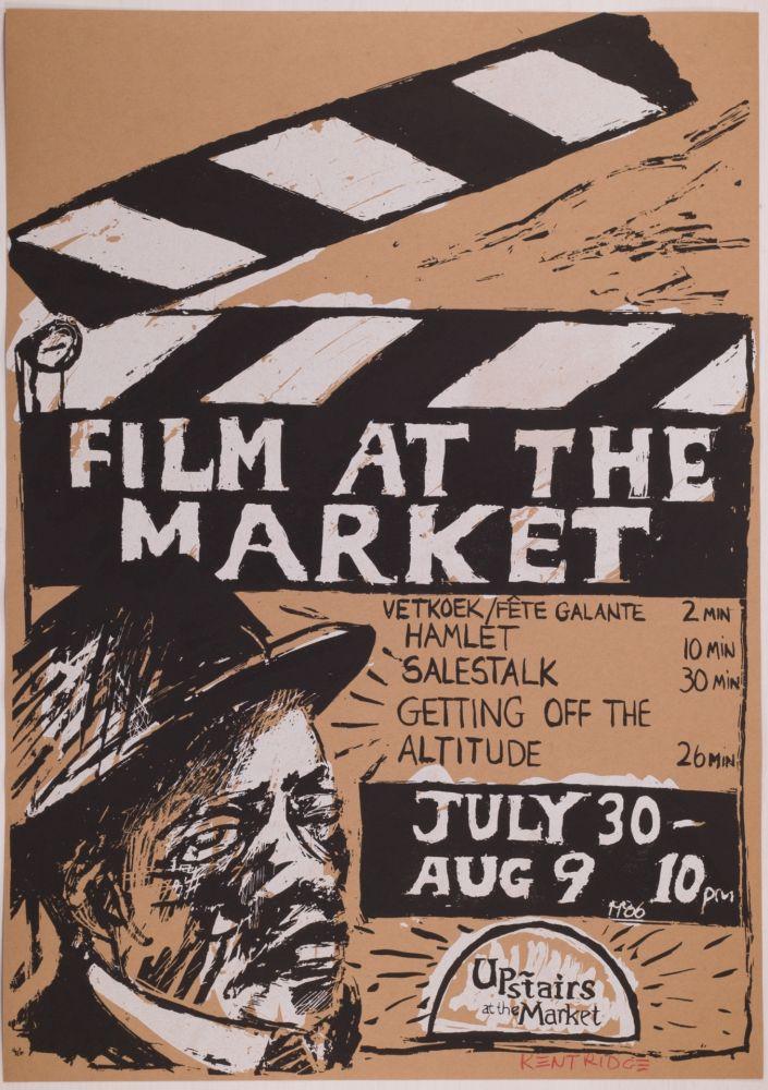 Sérigraphie Kentridge - Film at the Market