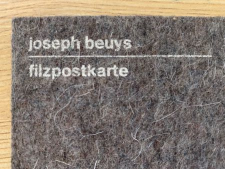 Sérigraphie Beuys - Filzpostkarte