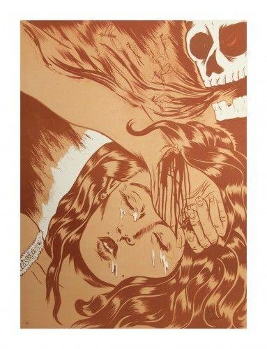 Lithographie Lakra (Dr.) - Final de sueño y calavera